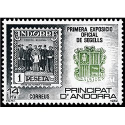 [24] 1982 Spanish Andorra Sc 148 Philatelic Exhibition  ** MNH Very Nice Stamps in Perfect Condition. (Scott)