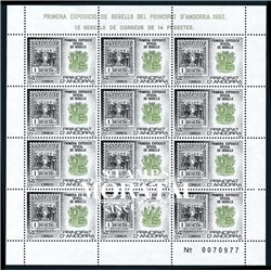 [24] 1982 Spanish Andorra Sc 148 Sheet Philatelic Exhibition  ** MNH Very Nice Stamps in Perfect Condition. (Scott)