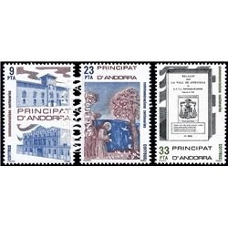 [24] 1982 Spanish Andorra Sc 147/150 San Francisco de Asis  ** MNH Very Nice Stamps in Perfect Condition. (Scott)