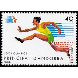 [24] 1984 Spanish Andorra Sc 164 Los Angeles Olympics  ** MNH Very Nice Stamps in Perfect Condition. (Scott)