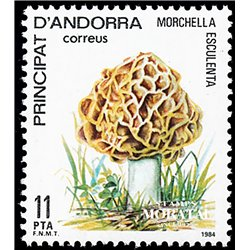 [24] 1984 Spanish Andorra Sc 165 Street band. Mushroom  ** MNH Very Nice Stamps in Perfect Condition. (Scott)