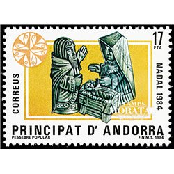 [24] 1984 Spanish Andorra Sc 166 Christmas  ** MNH Very Nice Stamps in Perfect Condition. (Scott)