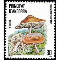 [24] 1986 Spanish Andorra Sc 172 Mushrooms Marasmius  ** MNH Very Nice Stamps in Perfect Condition. (Scott)