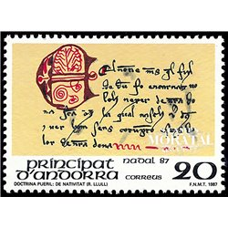 [24] 1987 Spanish Andorra Sc 182 Christmas  ** MNH Very Nice Stamps in Perfect Condition. (Scott)