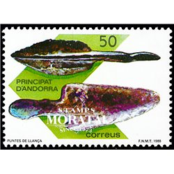[24] 1988 Spanish Andorra Sc 183 Prehistory. Canillo  ** MNH Very Nice Stamps in Perfect Condition. (Scott)