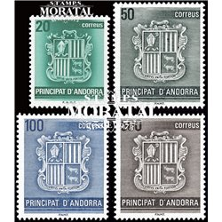 [24] 1988 Spanish Andorra Sc 192/198 Andorra Coat of Arms  ** MNH Very Nice Stamps in Perfect Condition. (Scott)