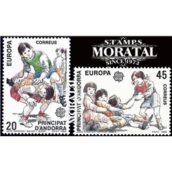 [24] 1989 Spanish Andorra Sc 200/201 Europe  ** MNH Very Nice Stamps in Perfect Condition. (Scott)