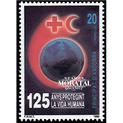 [24] 1989 Spanish Andorra Sc 203 Red Cross  ** MNH Very Nice Stamps in Perfect Condition. (Scott)