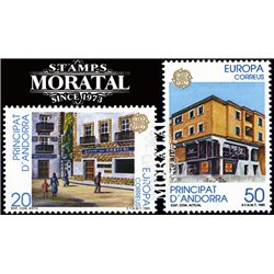 [24] 1990 Spanish Andorra Sc 205/206 Europe  ** MNH Very Nice Stamps in Perfect Condition. (Scott)