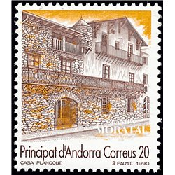 [24] 1990 Spanish Andorra Sc 208 Plandoit House  ** MNH Very Nice Stamps in Perfect Condition. (Scott)