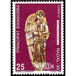 [24] 1990 Spanish Andorra Sc 209 Christmas  ** MNH Very Nice Stamps in Perfect Condition. (Scott)