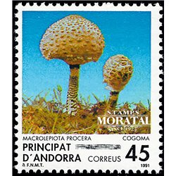 [24] 1991 Spanish Andorra Sc 214 Mushrooms Macrolepiota  ** MNH Very Nice Stamps in Perfect Condition. (Scott)