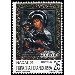 [24] 1991 Spanish Andorra Sc 215 Christmas  ** MNH Very Nice Stamps in Perfect Condition. (Scott)