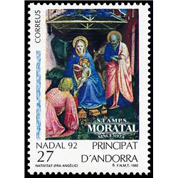 [24] 1992 Spanish Andorra Sc 220 Christmas  ** MNH Very Nice Stamps in Perfect Condition. (Scott)