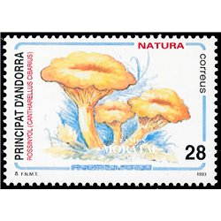 [24] 1993 Spanish Andorra Sc 222 Mushrooms Cantharellus  ** MNH Very Nice Stamps in Perfect Condition. (Scott)