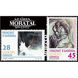 [24] 1993 Spanish Andorra Sc 223/224 Europe  ** MNH Very Nice Stamps in Perfect Condition. (Scott)