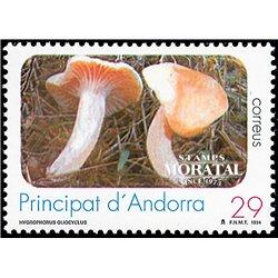 [24] 1994 Spanish Andorra Sc 230 Mushrooms Hygrophorus  ** MNH Very Nice Stamps in Perfect Condition. (Scott)