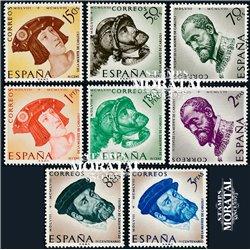 1958 Spain  Sc 879/886 Carlos I Kings **MNH Very Nice, Mint Hever Hinged?  (Scott)