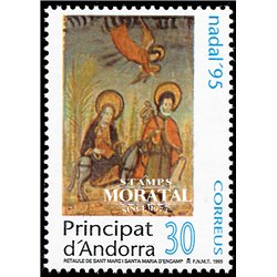 [24] 1995 Spanish Andorra Sc 235 Christmas  ** MNH Very Nice Stamps in Perfect Condition. (Scott)