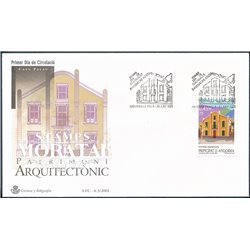 [24] 2001 Spanish Andorra Sc 272 San Julian de Loira  F.D.C.  Nice Stamps in Perfect Condition. (Scott)