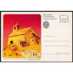 """[24]  Spanish Andorra Vegueria Episcopal. Romanesque church  """"Sant Cristofor d'Anyos""""  ()"""