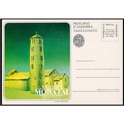 """[24]  Spanish Andorra Vegueria Episcopal. Romanesque church  """"Santa Coloma""""  ()"""