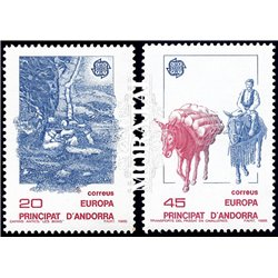 [24] 1988 Spanish Andorra Sc 184/185 Europe  ** MNH Very Nice Stamps in Perfect Condition. (Scott)