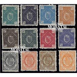 [24] 1896 Spanish Andorra Sc  Andorra Coat of Arms  * MH Nice  (Scott)