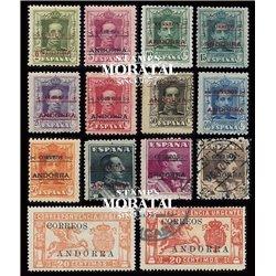 [24] 1928 Spanish Andorra Sc 1/12, E-1/2 Alfonso XIII and Pegasus  * MH Nice 11, 12 & E-1 in Used (Scott)