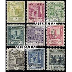 [24] 1931 Spanish Andorra Sc  Tourism. Andorra landscape  * MH Nice 10, 20, 25 and 30 centimos in Used (Scott)