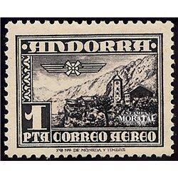 [24] 1951 Spanish Andorra Sc C1 Landscape  * MH Nice  (Scott)