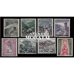 [24] 1963 Spanish Andorra Sc 50/57 Landscapes  ** MNH Very Nice  (Scott)