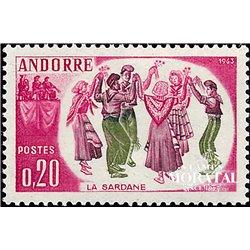 [24] 1963 French Andorra Sc 155 Sardana  ** MNH Very Nice  (Scott)
