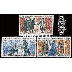 [24] 1963 French Andorra Sc 157, 159/160 Napoleon  ** MNH Very Nice  (Scott)