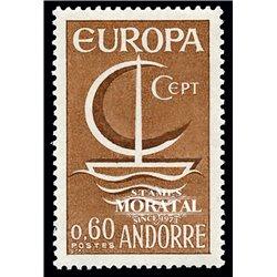 [24] 1966 French Andorra Sc 172 Europe CEPT  ** MNH Very Nice  (Scott)