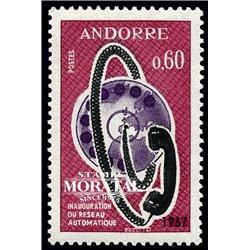 [24] 1967 French Andorra Sc 176 Telephone Dial  ** MNH Very Nice  (Scott)