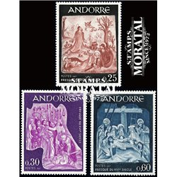 [24] 1967 French Andorra Sc 178/180 Frescos of the Town Hall  ** MNH Very Nice  (Scott)