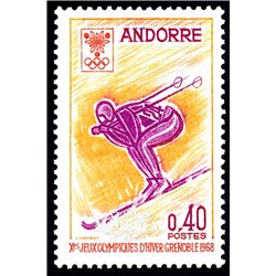 [24] 1968 French Andorra Sc 181 Grenoble Olympics  ** MNH Very Nice  (Scott)