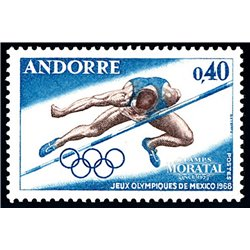 [24] 1968 French Andorra Sc 184 Olympic Games Mexico  ** MNH Very Nice  (Scott)