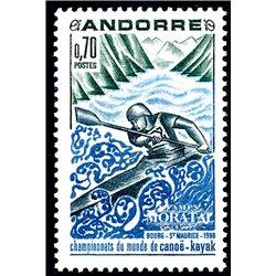 [24] 1969 French Andorra Sc 190 Sports. Canoe-Kayak  ** MNH Very Nice  (Scott)
