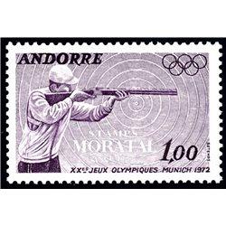 [24] 1972 French Andorra Sc 213 Olympic Games Munich  ** MNH Very Nice  (Scott)