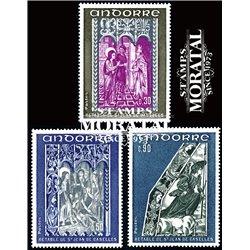 [24] 1972 French Andorra Sc 214/216 Chapel of San Juan de Caselles  ** MNH Very Nice  (Scott)