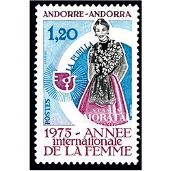 [24] 1975 French Andorra Sc 243 Year of the woman  ** MNH Very Nice  (Scott)