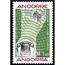 [24] 1976 French Andorra Sc 245 Phone  ** MNH Very Nice  (Scott)