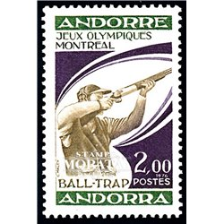 [24] 1976 French Andorra Sc 249 Montreal Olympic Games  ** MNH Very Nice  (Scott)