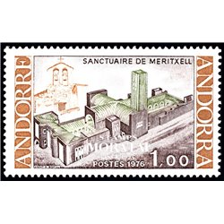 [24] 1976 French Andorra Sc 250 Notre-Dame Meritxell Sanctuary  ** MNH Very Nice  (Scott)