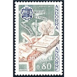 [24] 1977 French Andorra Sc 256 Andorra Studies Institute  ** MNH Very Nice  (Scott)