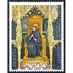 [24] 1977 French Andorra Sc 257 Chapel Saint-Roma  ** MNH Very Nice  (Scott)