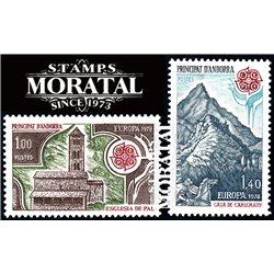 [24] 1978 French Andorra Sc 262/263 Europe CEPT  ** MNH Very Nice  (Scott)