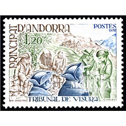 [24] 1978 French Andorra Sc 265 Visura Court  ** MNH Very Nice  (Scott)